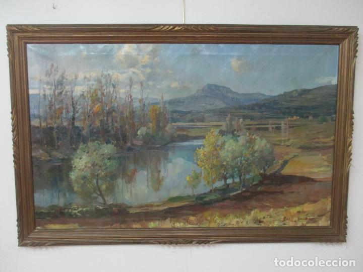 ÓLEO SOBRE TELA - RAMÓN BARNADAS (OLOT 1909 - GIRONA 1981) - PAISAJE DEL ROSELLÓN (ROSSELLÓ) 1951 (Arte - Pintura - Pintura al Óleo Moderna sin fecha definida)