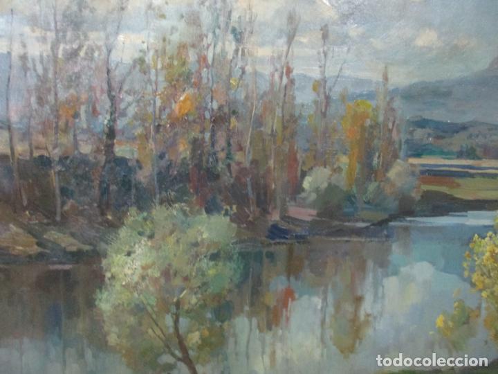 Arte: Óleo sobre Tela - Ramón Barnadas (Olot 1909 - Girona 1981) - Paisaje del Rosellón (Rosselló) 1951 - Foto 4 - 146264222