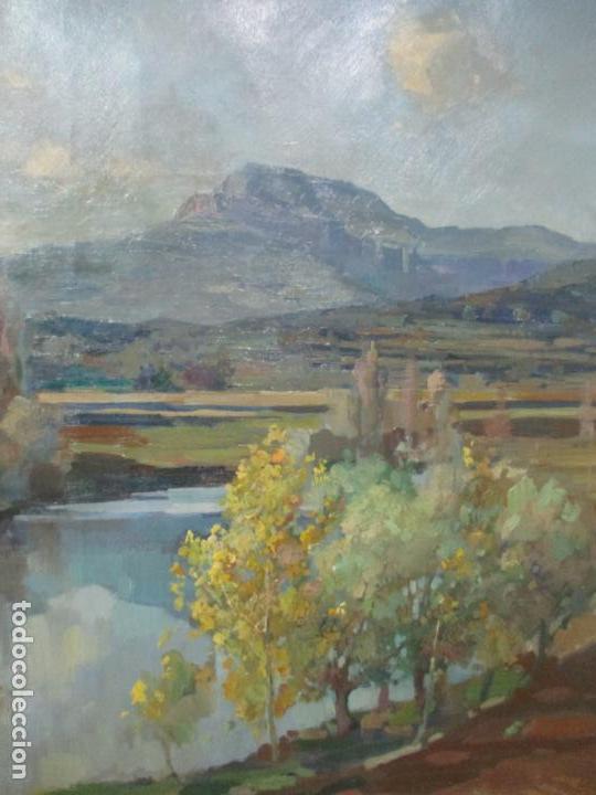 Arte: Óleo sobre Tela - Ramón Barnadas (Olot 1909 - Girona 1981) - Paisaje del Rosellón (Rosselló) 1951 - Foto 5 - 146264222