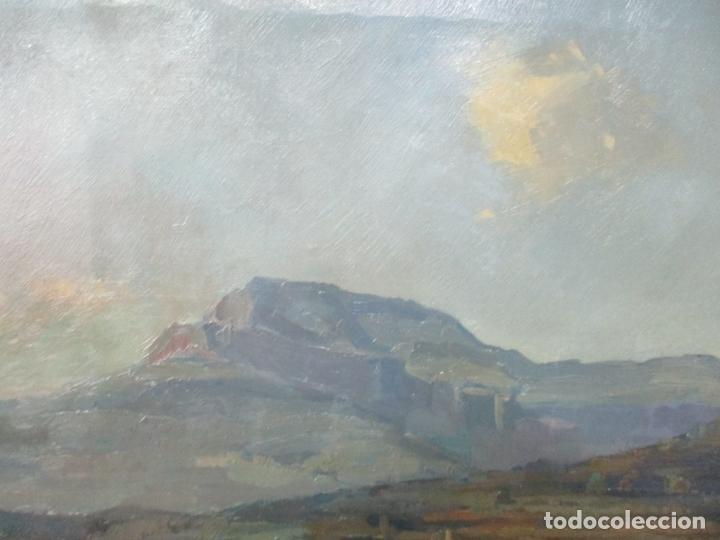 Arte: Óleo sobre Tela - Ramón Barnadas (Olot 1909 - Girona 1981) - Paisaje del Rosellón (Rosselló) 1951 - Foto 6 - 146264222