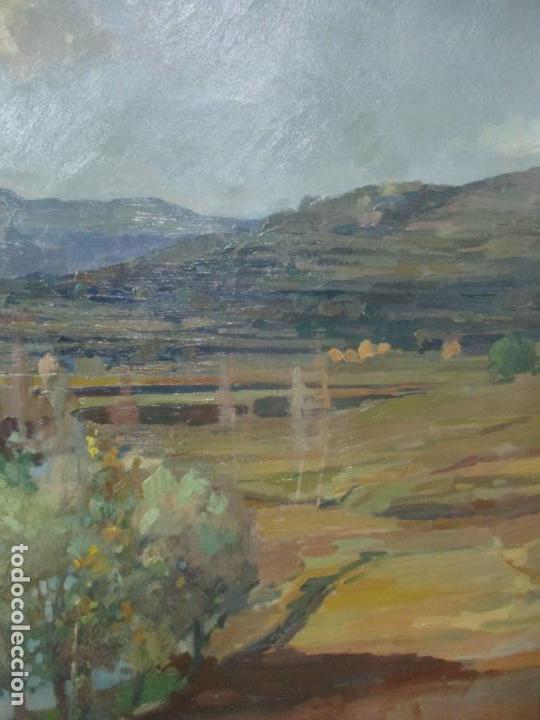 Arte: Óleo sobre Tela - Ramón Barnadas (Olot 1909 - Girona 1981) - Paisaje del Rosellón (Rosselló) 1951 - Foto 8 - 146264222