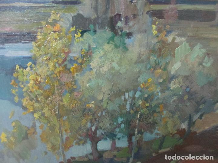 Arte: Óleo sobre Tela - Ramón Barnadas (Olot 1909 - Girona 1981) - Paisaje del Rosellón (Rosselló) 1951 - Foto 9 - 146264222