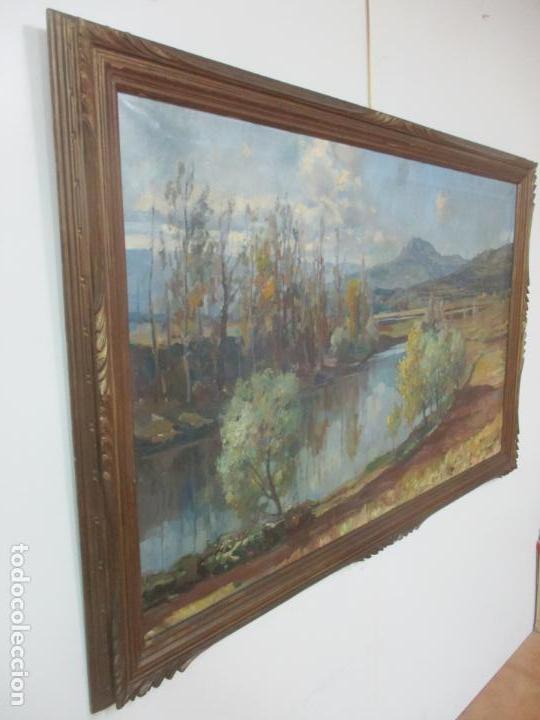 Arte: Óleo sobre Tela - Ramón Barnadas (Olot 1909 - Girona 1981) - Paisaje del Rosellón (Rosselló) 1951 - Foto 13 - 146264222