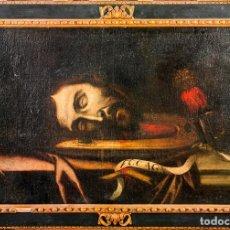 Arte: CABEZA DE SAN JUAN BAUTISTA (NATURALISMO TENEBRISTA S.XVII) - (51 X 79 CM). Lote 146334102