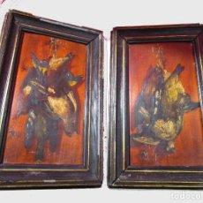Arte: A ESTUDIAR! FANTASTICA PAREJA DE OLEOS SOBRE TABLA NATURALEZA MUERTA XVII-XVIII A ESTUDIAR. Lote 146435798