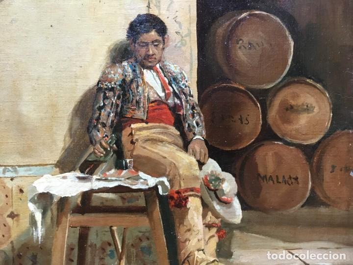 Arte: Juan Bautista GUZMAN (1850-1898) Pintor Español - Óleo sobre tela pegado a cartón - Foto 3 - 146437458