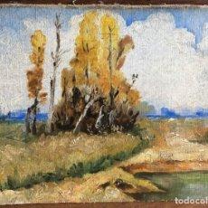 Arte: CARLO FOLLINI (1848-1938) PINTOR ITALIANO - ÓLEO SOBRE TELA PEGADA A CARTÓN . Lote 146438342