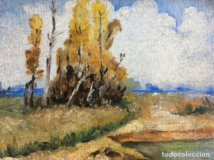 Arte: Carlo Follini (1848-1938) Pintor Italiano - Óleo sobre tela pegada a cartón - Foto 2 - 146438342