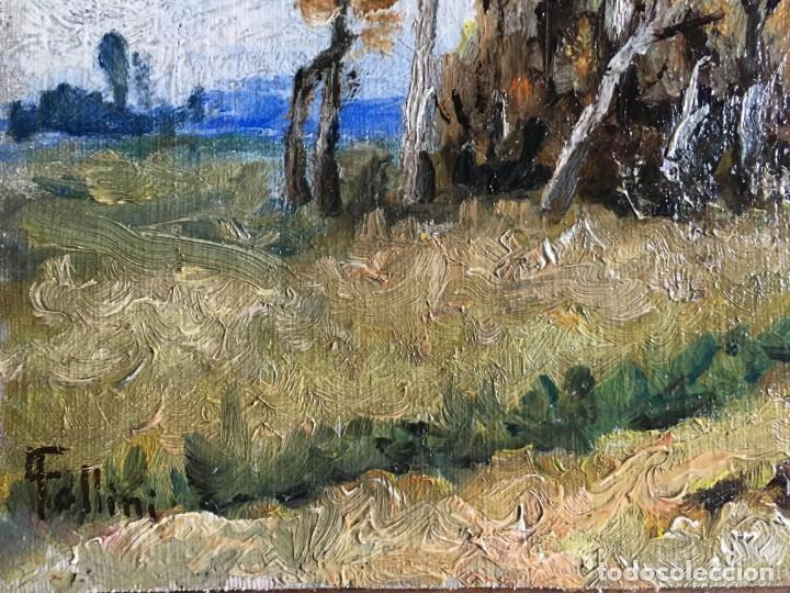 Arte: Carlo Follini (1848-1938) Pintor Italiano - Óleo sobre tela pegada a cartón - Foto 3 - 146438342