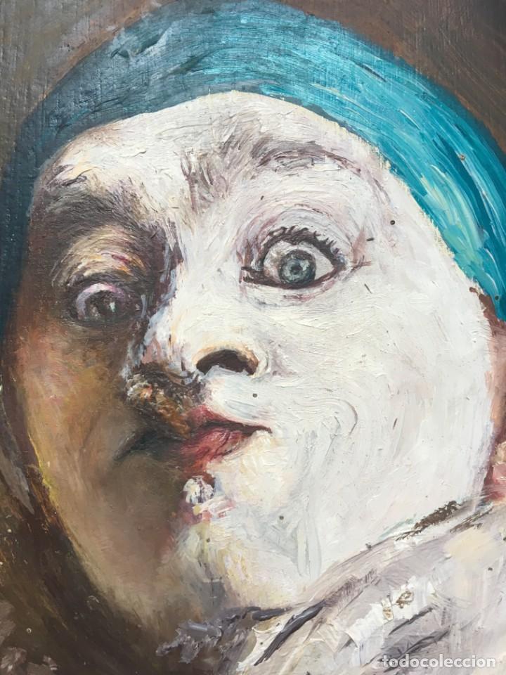 Arte: Armand Henrion (1875-1958) Pintor Belga - Óleo sobre tabla - Autorretrato con cigarrillo - Foto 2 - 146439778