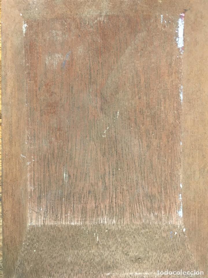 Arte: Armand Henrion (1875-1958) Pintor Belga - Óleo sobre tabla - Autorretrato con cigarrillo - Foto 4 - 146439778