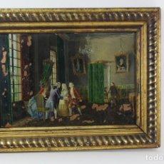 Arte: C-798. OLEO SOBRE COBRE, ESCENA INTERIOR. S.XIX.. Lote 146493562