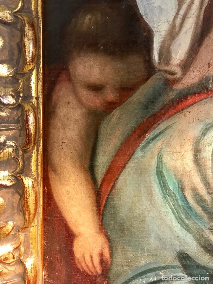 Arte: Óleo sobre lienzo pegado a una tabla. Pintura del siglo XVIII. Personajes. - Foto 8 - 146510696