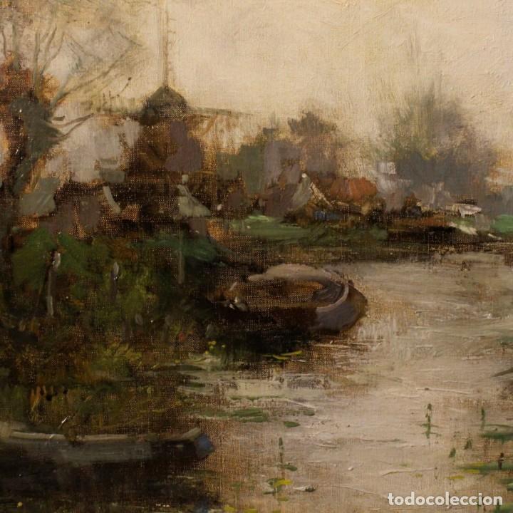 Arte: Pintura holandesa al óleo sobre lienzo con paisaje del siglo XX - Foto 2 - 146522202