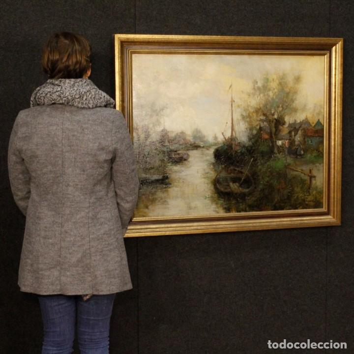 Arte: Pintura holandesa al óleo sobre lienzo con paisaje del siglo XX - Foto 5 - 146522202