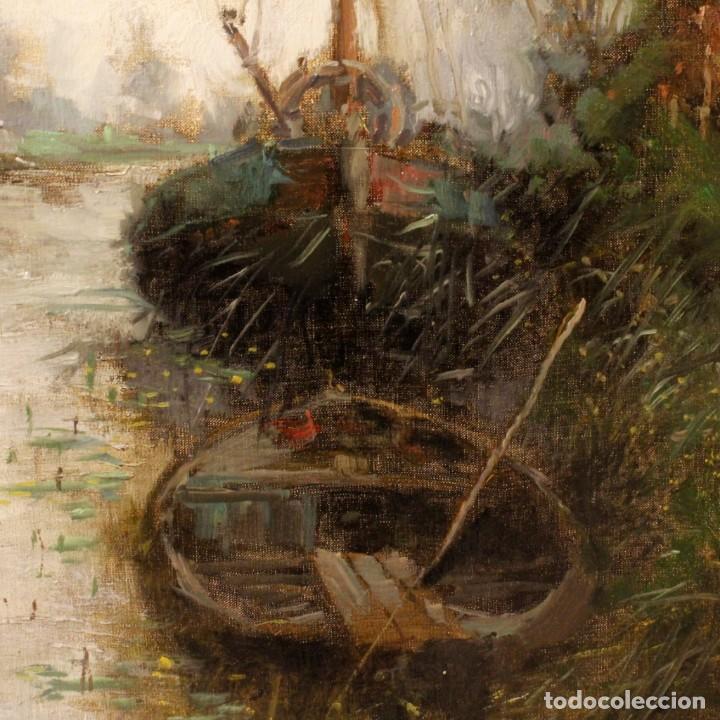 Arte: Pintura holandesa al óleo sobre lienzo con paisaje del siglo XX - Foto 6 - 146522202