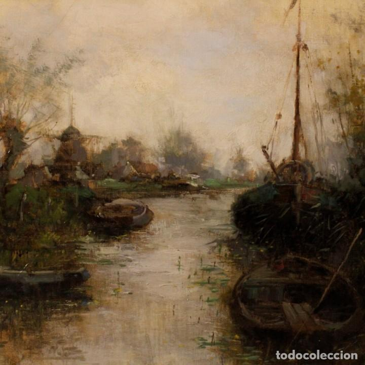 Arte: Pintura holandesa al óleo sobre lienzo con paisaje del siglo XX - Foto 9 - 146522202
