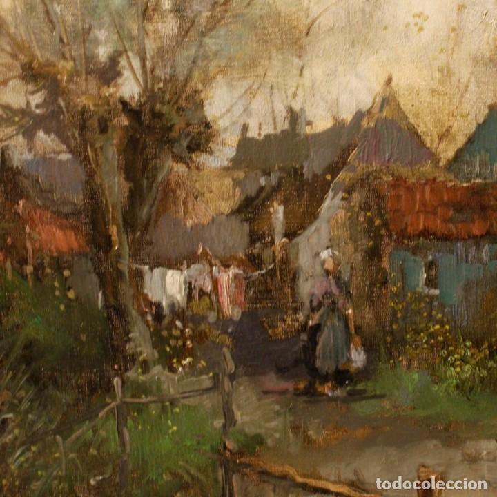 Arte: Pintura holandesa al óleo sobre lienzo con paisaje del siglo XX - Foto 10 - 146522202