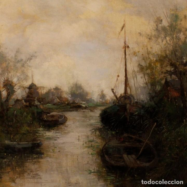 Arte: Pintura holandesa al óleo sobre lienzo con paisaje del siglo XX - Foto 11 - 146522202
