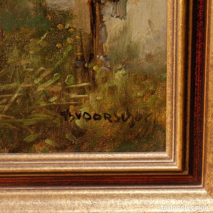 Arte: Pintura holandesa al óleo sobre lienzo con paisaje del siglo XX - Foto 12 - 146522202