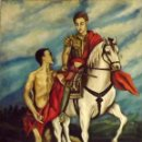 Arte: SAN MARTÍN DE TOURS DIVIDIENDO SU CAPA. FIRMADO J. ARNALDOS, 64 OLEO SOBRE TELA CON BASTIDOR. DIMENS. Lote 146537674