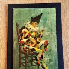Arte: JOAN PIFARRE - JOKER - VINILO Y O ACRILICO SOBRE MADERA Y MARGEN EN CUERO O PIEL RECUBIERTA. Lote 146560842