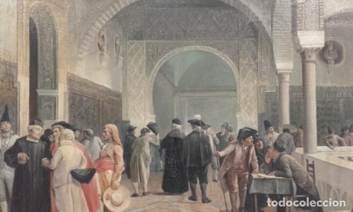 TERTULIAS / ÓLEO SOBRE LIENZO / COSTUMBRISTA (Arte - Pintura - Pintura al Óleo Antigua sin fecha definida)