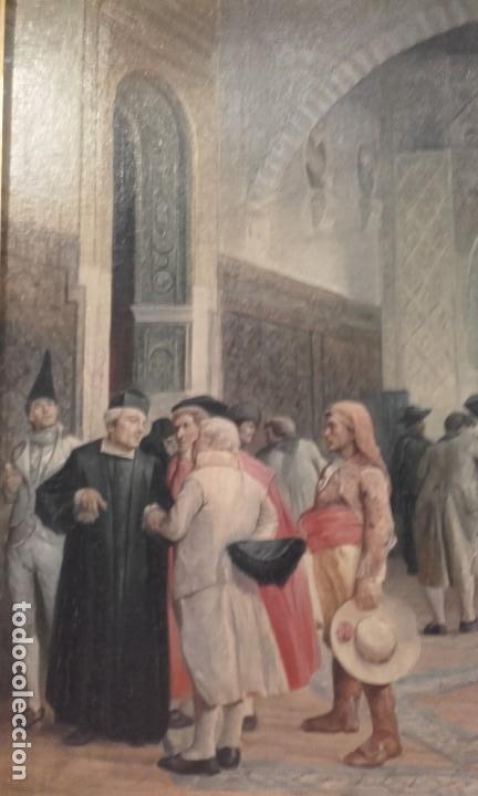 Arte: Tertulias / óleo sobre lienzo / costumbrista - Foto 2 - 146574158