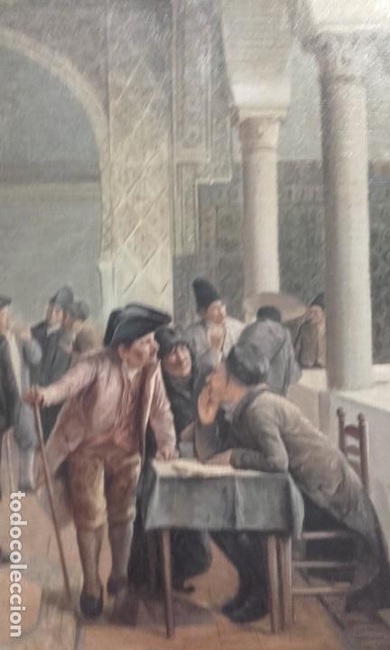 Arte: Tertulias / óleo sobre lienzo / costumbrista - Foto 3 - 146574158