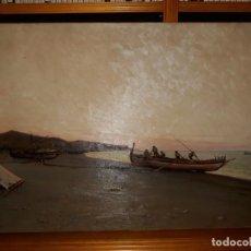 Arte: PREPARANDO LAS REDES - EMILIO OCÓN Y RIVAS (MÁLAGA, 1845 - 1904) - ÓLEO SOBRE LIENZO.. Lote 146642442