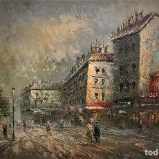 Arte: PARIS, VISTA AL ATARDECER. Lote 146689394