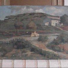 Arte: OLEO SOBRE LIENZO DE 1942. PAISAJE DE MASIA CATALANA. FIRMADO Y FECHADO. A RESTAURAR.. Lote 146717306