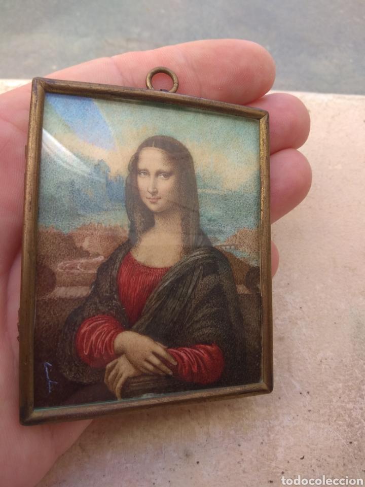 Arte: Preciosa Gioconda de Leonardo Da Vinci - Pintada Sobre Placa de Marfil - Elena Caula - Roma - Italia - Foto 2 - 146887785