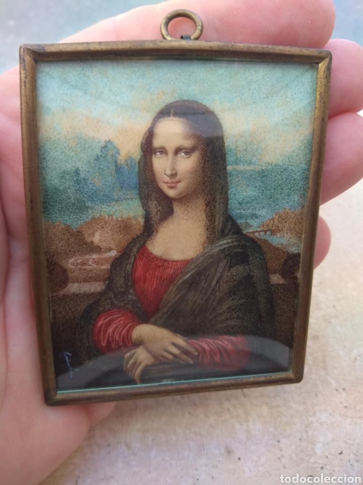 Arte: Preciosa Gioconda de Leonardo Da Vinci - Pintada Sobre Placa de Marfil - Elena Caula - Roma - Italia - Foto 3 - 146887785
