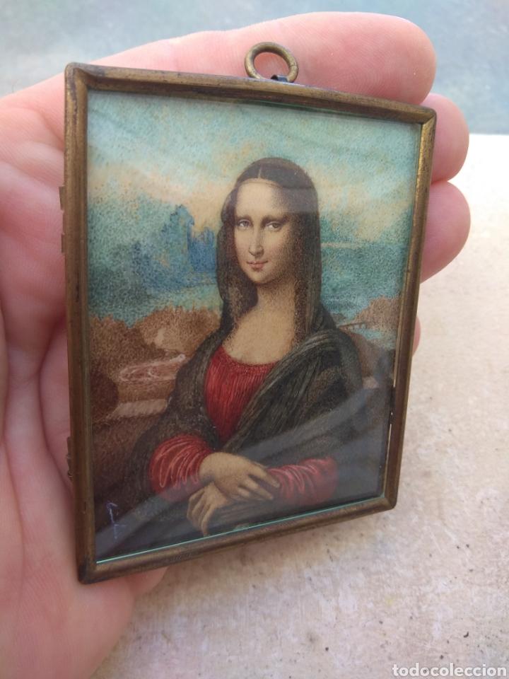 Arte: Preciosa Gioconda de Leonardo Da Vinci - Pintada Sobre Placa de Marfil - Elena Caula - Roma - Italia - Foto 4 - 146887785