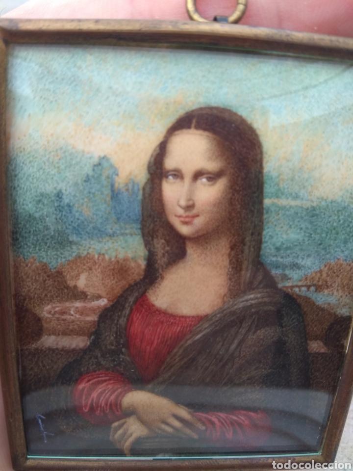 Arte: Preciosa Gioconda de Leonardo Da Vinci - Pintada Sobre Placa de Marfil - Elena Caula - Roma - Italia - Foto 5 - 146887785
