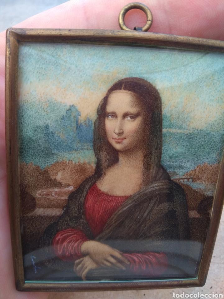 Arte: Preciosa Gioconda de Leonardo Da Vinci - Pintada Sobre Placa de Marfil - Elena Caula - Roma - Italia - Foto 6 - 146887785