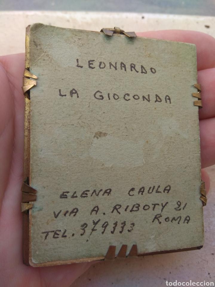 Arte: Preciosa Gioconda de Leonardo Da Vinci - Pintada Sobre Placa de Marfil - Elena Caula - Roma - Italia - Foto 7 - 146887785