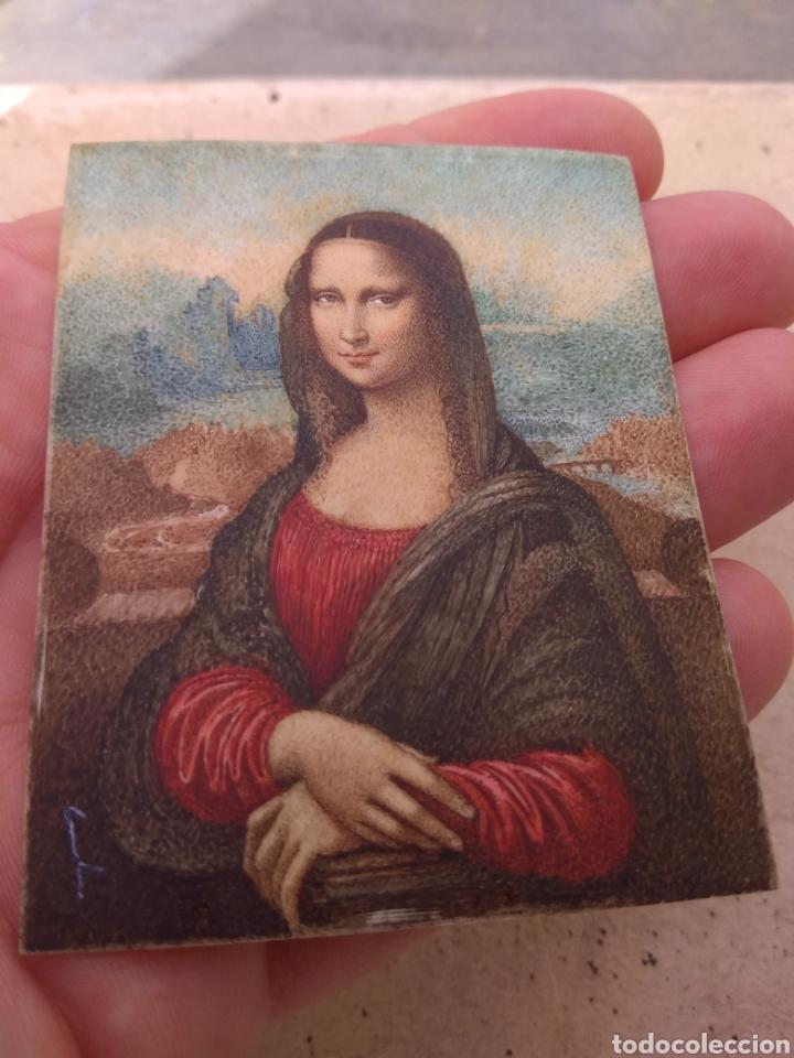 Arte: Preciosa Gioconda de Leonardo Da Vinci - Pintada Sobre Placa de Marfil - Elena Caula - Roma - Italia - Foto 11 - 146887785