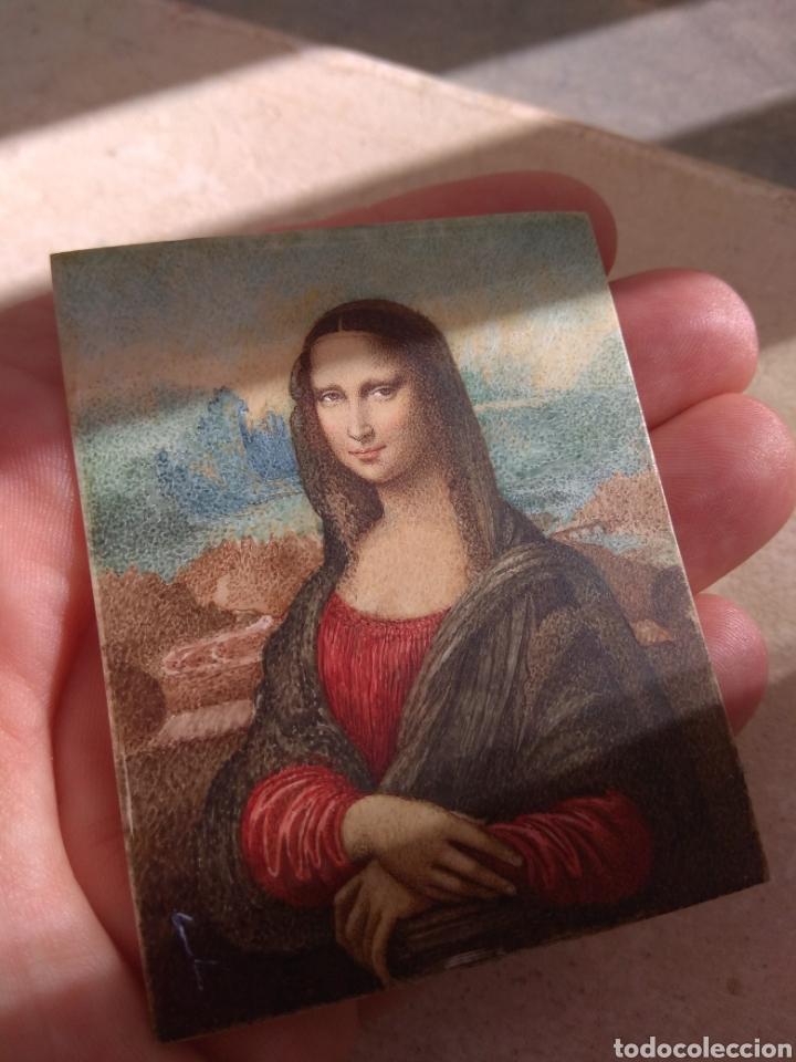 Arte: Preciosa Gioconda de Leonardo Da Vinci - Pintada Sobre Placa de Marfil - Elena Caula - Roma - Italia - Foto 12 - 146887785