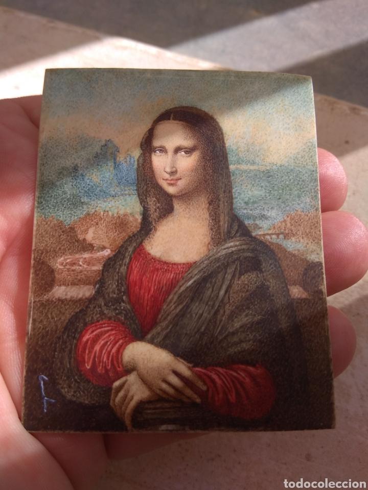 Arte: Preciosa Gioconda de Leonardo Da Vinci - Pintada Sobre Placa de Marfil - Elena Caula - Roma - Italia - Foto 13 - 146887785