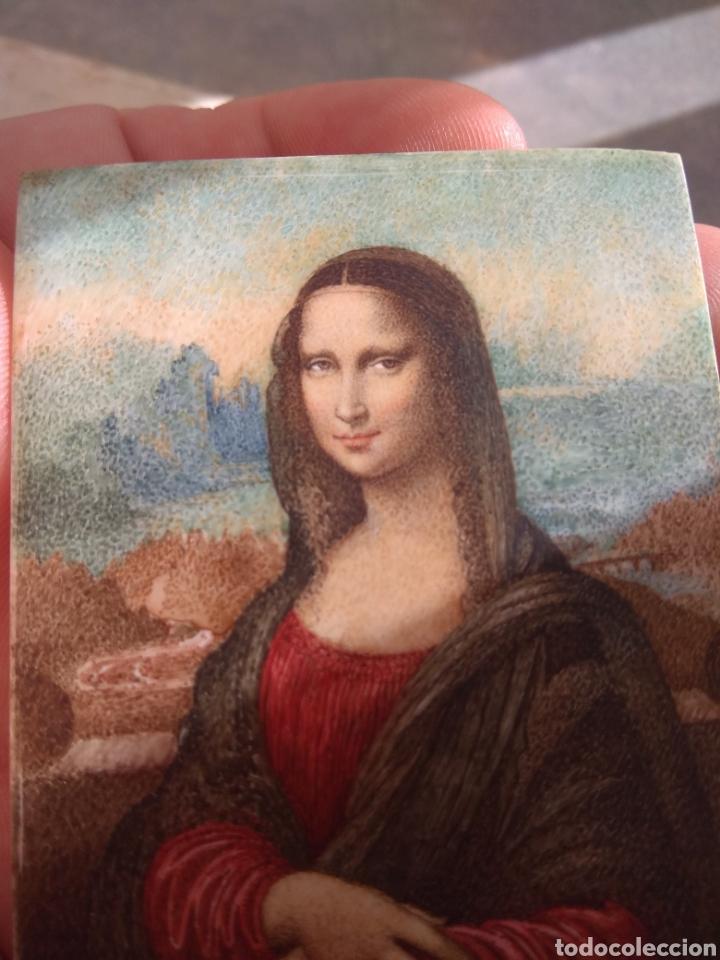 Arte: Preciosa Gioconda de Leonardo Da Vinci - Pintada Sobre Placa de Marfil - Elena Caula - Roma - Italia - Foto 14 - 146887785