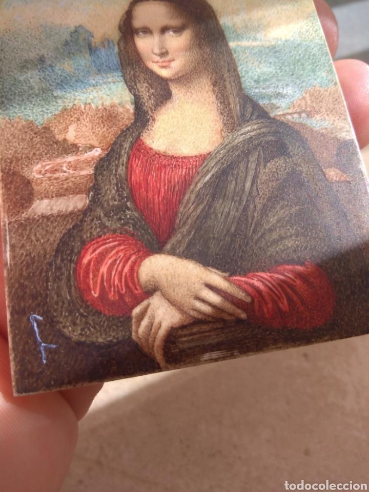 Arte: Preciosa Gioconda de Leonardo Da Vinci - Pintada Sobre Placa de Marfil - Elena Caula - Roma - Italia - Foto 15 - 146887785