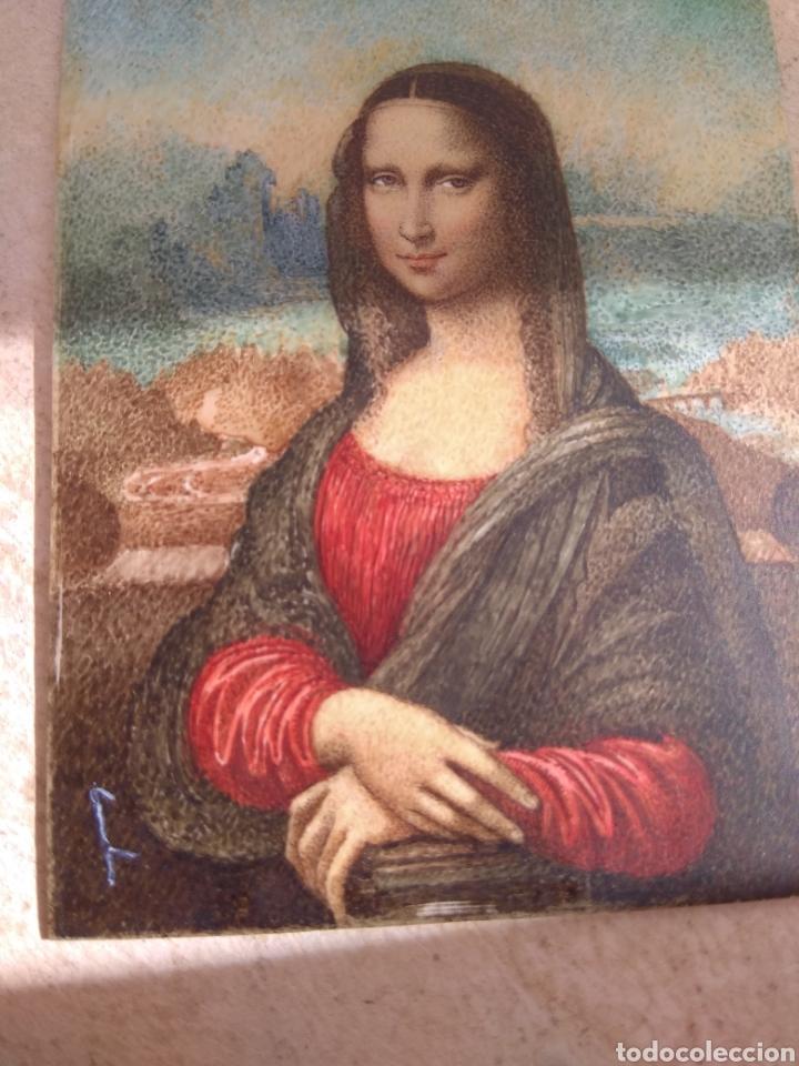Arte: Preciosa Gioconda de Leonardo Da Vinci - Pintada Sobre Placa de Marfil - Elena Caula - Roma - Italia - Foto 16 - 146887785