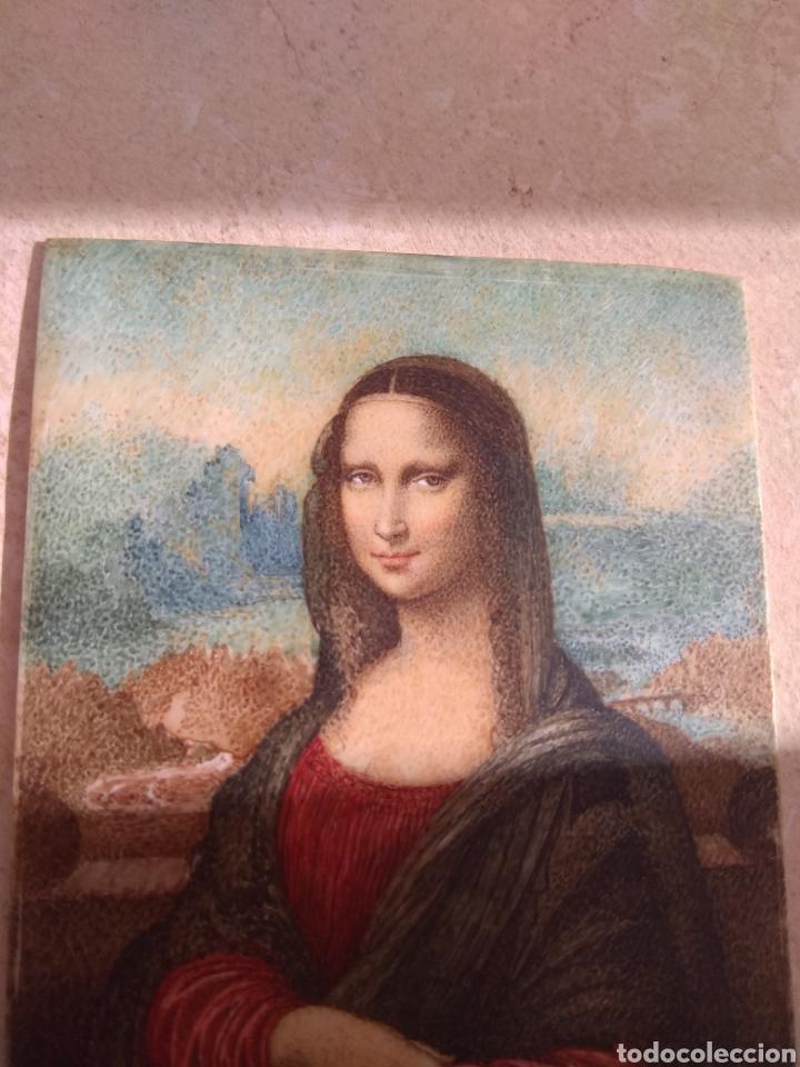 Arte: Preciosa Gioconda de Leonardo Da Vinci - Pintada Sobre Placa de Marfil - Elena Caula - Roma - Italia - Foto 17 - 146887785
