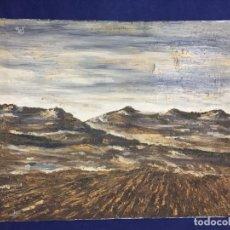 Arte: OLEO LIENZO ARPILLERA FIRMA JOSE LUIS VALENCIANO CUENCA COLINAS CASTILLA ESPATULA AÑOS 70 54X66C. Lote 146987162