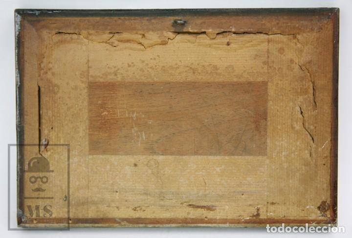Arte: 2 Pinturas Impresionistas al Óleo Sobre Tabla - M. Fajardo - Marina / Paisaje Costero - Ppios S. XX - Foto 8 - 147145234