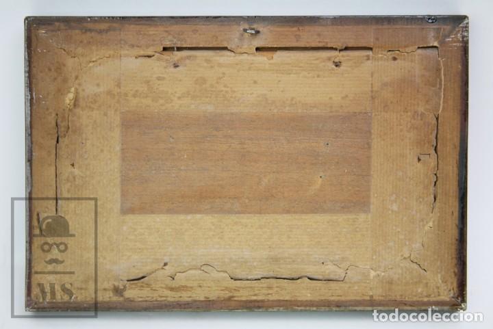 Arte: 2 Pinturas Impresionistas al Óleo Sobre Tabla - M. Fajardo - Marina / Paisaje Costero - Ppios S. XX - Foto 13 - 147145234
