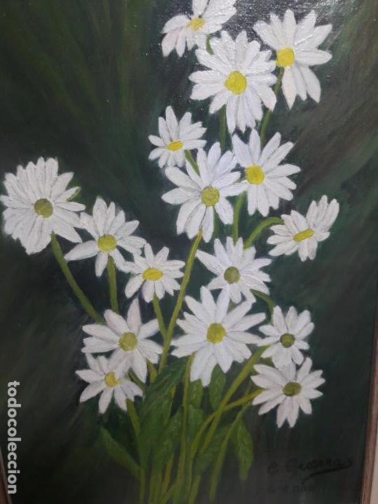Arte: Oleo sobre lienzo flores - Foto 2 - 147157570