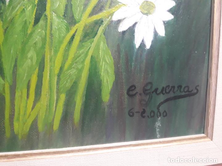 Arte: Oleo sobre lienzo flores - Foto 3 - 147157570